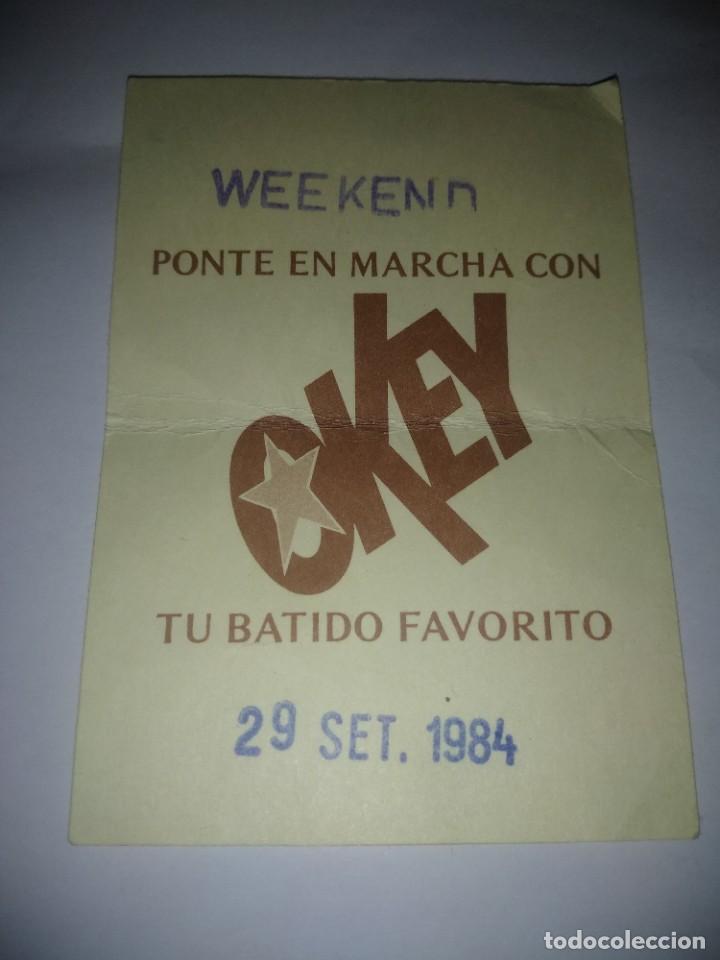 VALE DE OKEY ,AÑO 1984 (Coleccionismo - Carteles Pequeño Formato)