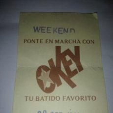 Coleccionismo de carteles: VALE DE OKEY ,AÑO 1984. Lote 278327673