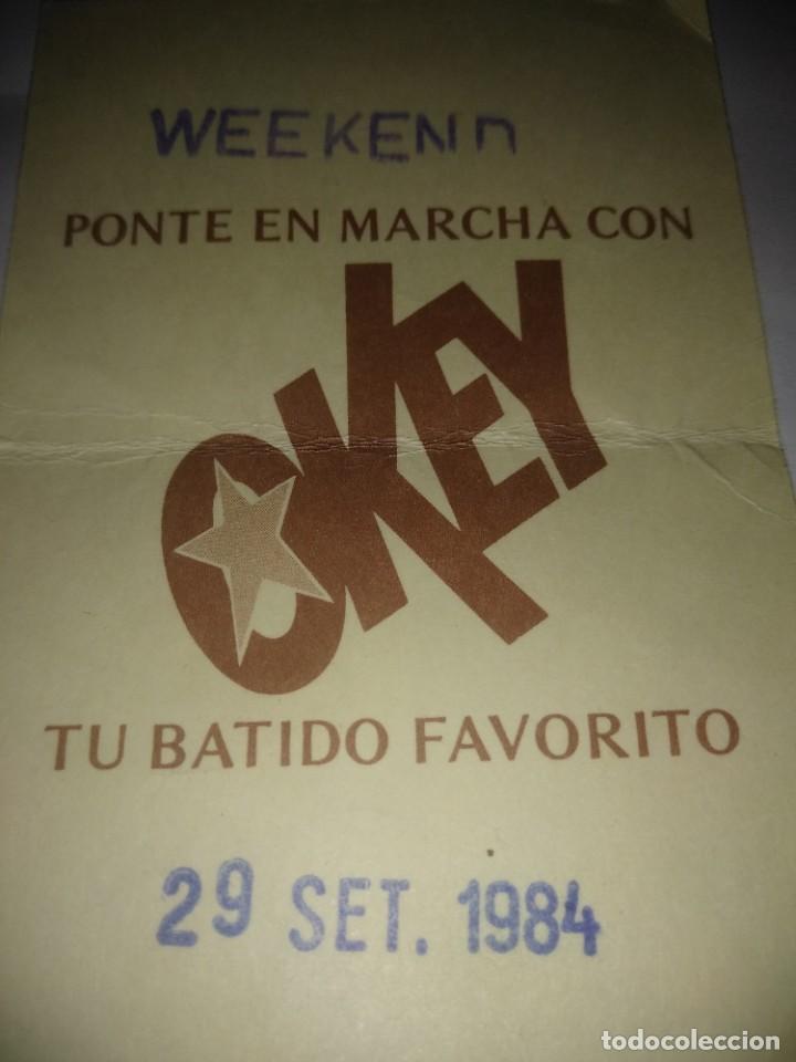 Coleccionismo de carteles: Vale de OKEY ,año 1984 - Foto 2 - 278327673
