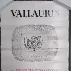 Coleccionismo de carteles: PICASSO, 1º RENCONTRE INTERNATIONAL D´ HOMMAGE Á PICASSO. VALLAURIS. Lote 190998488