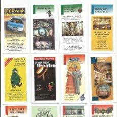Coleccionismo de carteles: 19 TARJETAS PUBLICITARIAS DE COMERCIOS EN PRAGA. Lote 191256546