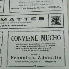 Colecionismo de cartazes: FABRICA DE CALZADO DE SERRA HERMANO Y COMPAÑIA SITJES SITGES BARCELONA HOJA AÑO 1920. Lote 192602833