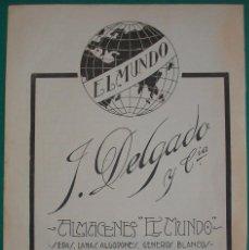 Coleccionismo de carteles: HOJA DE PUBLICIDAD DE ALMACENES EL MUNDO. CALLE FRUELA 4. OVIEDO (ASTURIAS). ORIGINAL DE LOS AÑOS 20. Lote 192716278