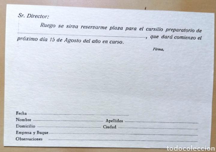 Coleccionismo de carteles: Antigua tarjeta publicidad Centro De Estudios Náuticos ELCANO - 10x15 cm - Foto 2 - 193328148