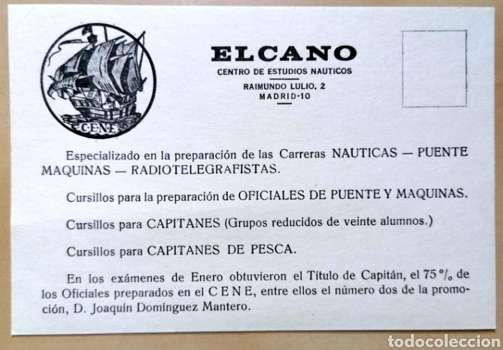 ANTIGUA TARJETA PUBLICIDAD CENTRO DE ESTUDIOS NÁUTICOS ELCANO - 10X15 CM (Coleccionismo - Carteles Pequeño Formato)
