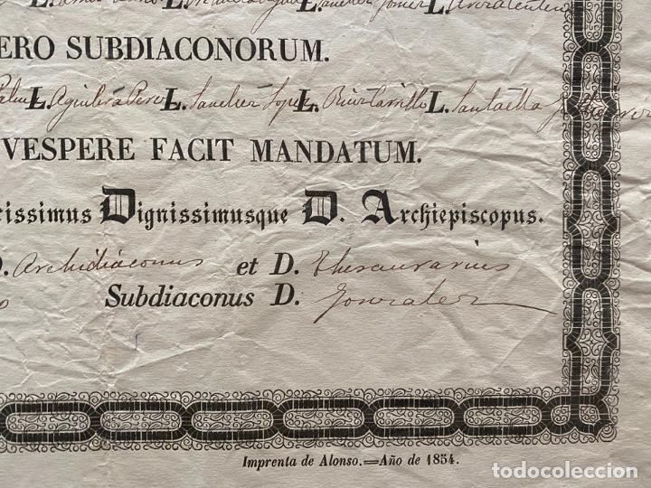 Coleccionismo de carteles: DOCUMENTO DE AUTENTICIDAD DE RELIQUIA , ROMA 1902 , - Foto 2 - 194060208