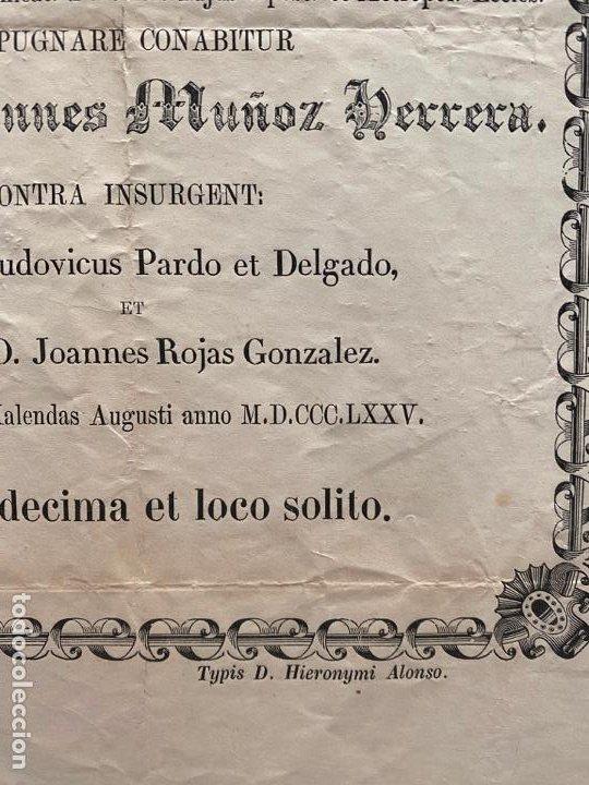 Coleccionismo de carteles: DOCUMENTO RELIGIOSO VINCULADO A MÁLAGA DE 1875 , JUAN MUÑOZ HERRERA - Foto 2 - 194060960