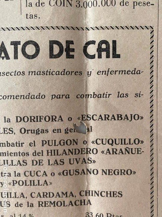 Coleccionismo de carteles: HOJA MURAL CAMARA OFICIAL SINDICAL AGRICOLA EL CAMPO MALAGUEÑO , 1955 - Foto 3 - 194061650