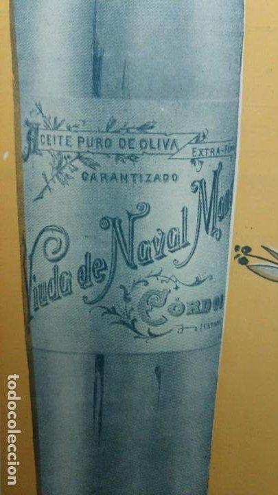 Coleccionismo de carteles: ACEITE EXTRAFINO PURO DE OLIVA VIUDA NAVAL MANSO CORDOBA MARCA REGISTRADA ANDALUCIA AÑO 1920 - Foto 4 - 194239433