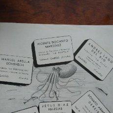 Coleccionismo de carteles: 7 FABRICAS DE CONSERVAS Y SALAZONES PESCADOS CARIÑO MUROS LA CORUÑA HOJA REVISTA AÑO 1940. Lote 194302700