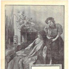Coleccionismo de carteles: 1911 HOJA REVISTA PUBLICIDAD ANUNCIO RECORTE DE PRENSA PERFUMERÍA PETROLEO GAL CUIDADO DEL CABELLO. Lote 194331692