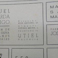 Coleccionismo de carteles: CONSERVAS DE PESCADO F.F.CERVERA CANGAS VIGO HOJA AÑO 1942. Lote 194356782