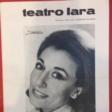 Coleccionismo de carteles: TEATRO, PROGRAMA DE JULIA GUTIERREZ CABA, CUARENTA QUILATES 1969. Lote 194381273