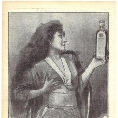Coleccionismo de carteles: 1911 HOJA REVISTA PUBLICIDAD ANUNCIO RECORTE DE PRENSA PERFUMERÍA PETROLEO GAL CUIDADO DEL CABELLO. Lote 194393435