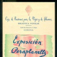 Coleccionismo de carteles: NUMULITE * PERA PLANELLS 1950 FOLLETO EXPOSICIÓN CAJA DE PENSIONES GERONA GIRONA . Lote 194595483