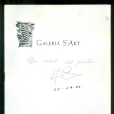 Coleccionismo de carteles: NUMULITE * PERA PLANELLS GALERIA S'ART 1977 FIRMA FOLLETO. Lote 194595716