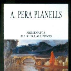 Coleccionismo de carteles: NUMULITE * PERA PLANELLS HOMENATGE ALS RIUS I PONTS RAMBLA DE GIRONA GERONA 1987. Lote 194596022