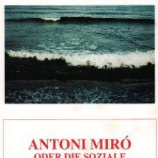 Coleccionismo de carteles: ANTONI MIRÓ ODER DIE SOZIALE VESTÄNDIGUNG CARTEL ORIGINAL EXPO GRAPHISES WERK VOLKSGANK WIEDENBRÜCK . Lote 194667675