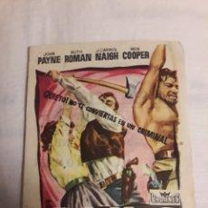 Coleccionismo de carteles: REBELDES EN LA CIUDAD ANTIGUO FOLLETO DE MANO PROGRAMA DE CINE. Lote 194737673