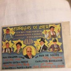 Coleccionismo de carteles: ESTRELLAS DEL AYER PROGRAMA ANTIGUO DE CINE FOLLETO DE MANO. Lote 194738373