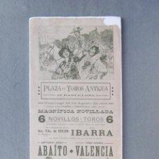 Coleccionismo de carteles: CARTEL PLAZA DE TOROS ANTIGUA DE BARCELONA. 24 DE AGOSTO DE 1913. 43,5 X 17 CM.- MATADORES: ANTONIO. Lote 194765743
