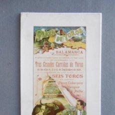 Coleccionismo de carteles: CARTEL PLAZA DE TOROS DE SALAMANCA. SEPTIEMBRE DE 1904. 42 X 19 CM.- MATADORES: BOMBITA CHICO; LAGAR. Lote 194765897