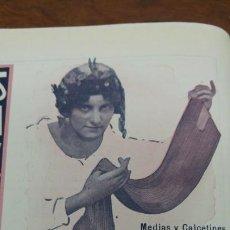 Coleccionismo de carteles: FABRICA DE MEDIAS Y CALCETINES NARCISO Y LUIS CANALS Y Cª PALMA MALLORCA BARCELONA HOJA AÑO 1920. Lote 194880207
