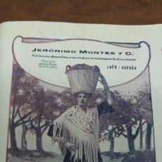 Coleccionismo de carteles: FABRICANTES ALMACENISTAS DE ACEITES PUROS OLIVA Y CEREALES JERONIMO MONTES JAEN HOJA AÑO 1920. Lote 194880622