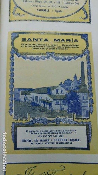 FABRICA DE JABONES A VAPOR -SANTA MARIA- PERSONAL DE ANDUJAR CORDOBA PINTA HOJA REVISTA AÑO 1920 (Coleccionismo - Carteles Pequeño Formato)