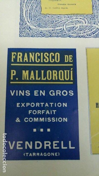 FRANCISCO DE P.MALLORQUI VINS EN GROS EL VENDRELL TARRAGONA HOJA REVISTA AÑO 1920 (Coleccionismo - Carteles Pequeño Formato)