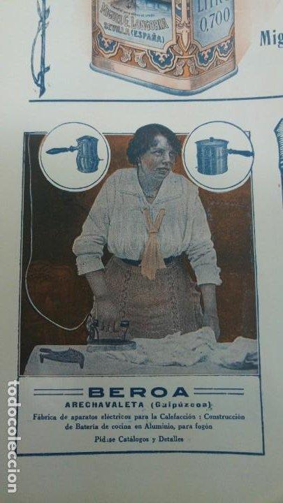 FABRICA APARATOS ELECTRICOS CALEFACCION BATERIAS COCINA -BEROA- ARECHAVALETA HOJA PUBLICIDAD 1920 (Coleccionismo - Carteles Pequeño Formato)