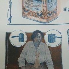Coleccionismo de carteles: FABRICA APARATOS ELECTRICOS CALEFACCION BATERIAS COCINA -BEROA- ARECHAVALETA HOJA PUBLICIDAD 1920. Lote 194906543