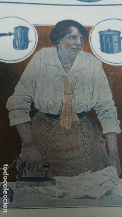 Coleccionismo de carteles: FABRICA APARATOS ELECTRICOS CALEFACCION BATERIAS COCINA -BEROA- ARECHAVALETA HOJA PUBLICIDAD 1920 - Foto 3 - 194906543