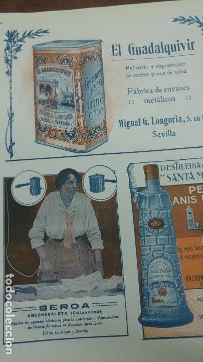 Coleccionismo de carteles: FABRICA APARATOS ELECTRICOS CALEFACCION BATERIAS COCINA -BEROA- ARECHAVALETA HOJA PUBLICIDAD 1920 - Foto 4 - 194906543