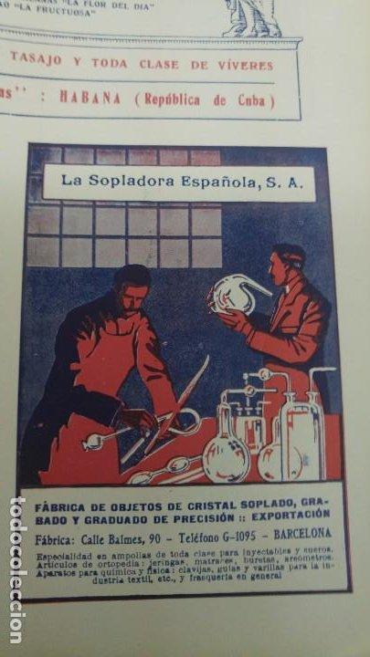 FABRICA OBJETOS CRISTAL SOPLADO GRABADO GRADUADO -LA SOPLADORA ESPAÑOLA S.A. -BARCELONA HOJA 1920 (Coleccionismo - Carteles Pequeño Formato)