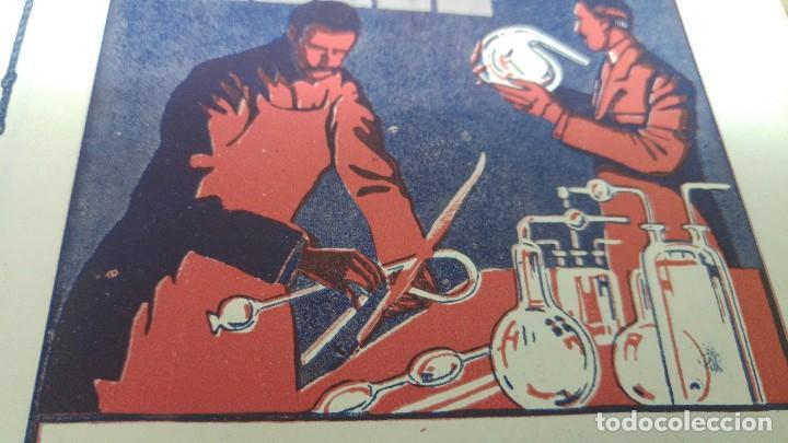 Coleccionismo de carteles: FABRICA OBJETOS CRISTAL SOPLADO GRABADO GRADUADO -LA SOPLADORA ESPAÑOLA S.A. -BARCELONA HOJA 1920 - Foto 2 - 194906570