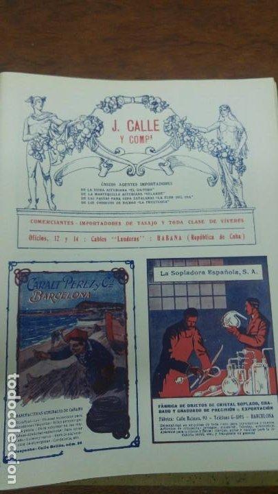 Coleccionismo de carteles: FABRICA OBJETOS CRISTAL SOPLADO GRABADO GRADUADO -LA SOPLADORA ESPAÑOLA S.A. -BARCELONA HOJA 1920 - Foto 3 - 194906570