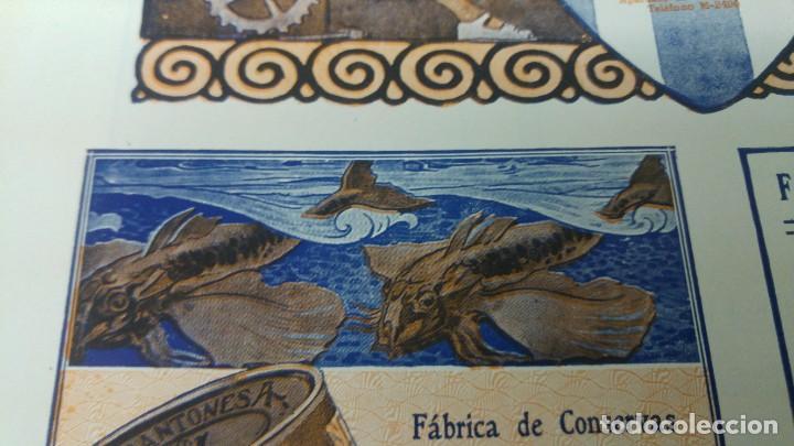 Coleccionismo de carteles: FABRICA DE CONSERVAS Y SALAZONES DE PESCADOS -SOBRINO DE JOSE ARRONTE- SANTOÑA SARDINAS HOJA 1920 - Foto 3 - 194906633