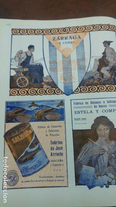 Coleccionismo de carteles: FABRICA DE CONSERVAS Y SALAZONES DE PESCADOS -SOBRINO DE JOSE ARRONTE- SANTOÑA SARDINAS HOJA 1920 - Foto 4 - 194906633