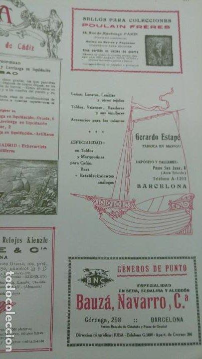 Coleccionismo de carteles: FABRICA LONAS TOLDOS BANDERAS VELAMEN LONETAS -GERARDO ESTAPE- MASNOU BARCELONA HOJA 1920 - Foto 2 - 194906658