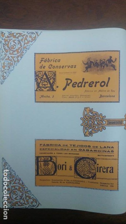 Coleccionismo de carteles: FABRICA DE CONSERVAS -A.PEDREROL- MOLINS DE REY BARCELONA HOJA PUBLICIDAD AÑO 1920 - Foto 3 - 194906817