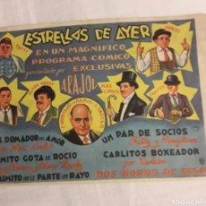 Coleccionismo de carteles: PROGRAMA DE CINE ESTRELLAS DEL AYER FOLLETO DE MANO ANTIGUO. Lote 194990407