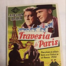 Coleccionismo de carteles: TRAVESÍA DE PARIS ANTIGUO FOLLETO DE MANO PROGRAMA. Lote 194990542