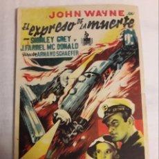 Coleccionismo de carteles: EL EXPRESO DE LA MUERTE ANTIGUO PROGRAMA DE MANO DE CINE FOLLETO. Lote 194990782