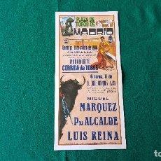 Coleccionismo de carteles: PROGRAMA PLAZA DE TOROS DE MADRID (1986) LAS VENTAS. Lote 195021583