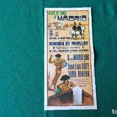 Coleccionismo de carteles: PROGRAMA PLAZA DE TOROS DE MADRID (1986) LAS VENTAS. Lote 195021642