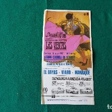 Coleccionismo de carteles: PROGRAMA PLAZA DE TOROS DE MADRID (1987) LAS VENTAS. Lote 195022152