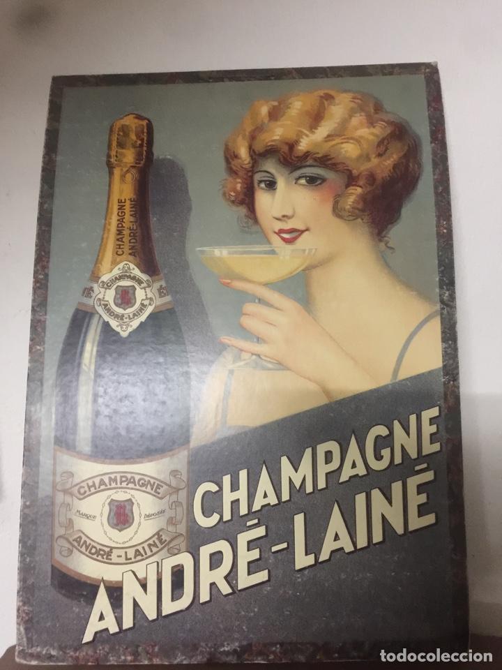 CARTEL CHAMPAGNE ANDRE LAINE (Coleccionismo - Carteles Pequeño Formato)