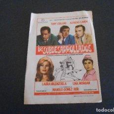 Coleccionismo de carteles: FOLLETO DE PROGRAMA DE LA PELÍCULA LOS SUBDESARROLLADOS. Lote 195146430
