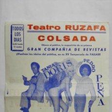 Coleccionismo de carteles: PROGRAMA TEATRO RUZAFA, AÑO 1969, GRAN EXITO, MIMOSA, CON TANIA DORIS, LUIS CUENCA Y PEDRO PEÑA. Lote 195203501